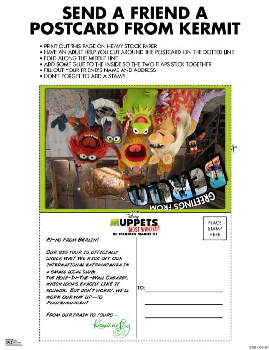 Muppets Most Wanted - Send a Postcard From Kermit