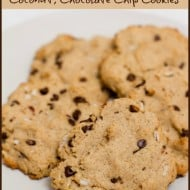 Gluten Free, Coconut, Chocolate Chip Cookies #Recipe