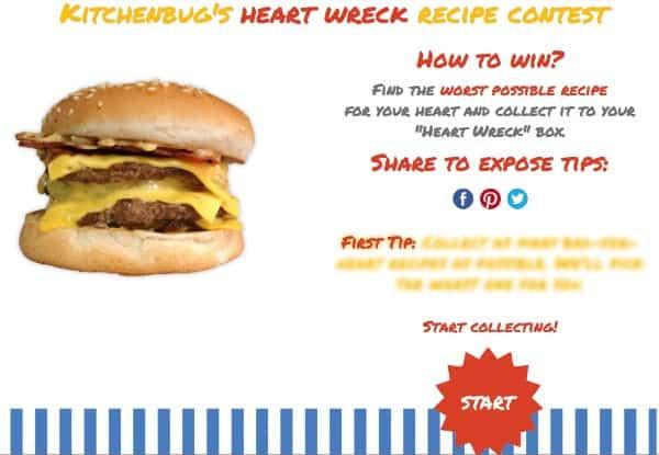 kitchenbug heartwreck contest