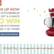 Win a $649 KitchenAid Mixer from KitchenBug #Giveaway