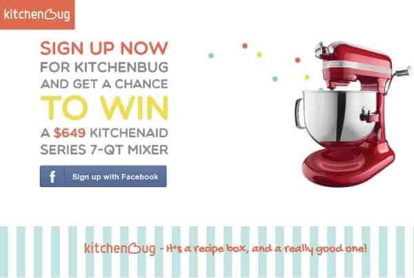 kitchenbug win a  kitchenaid mixer