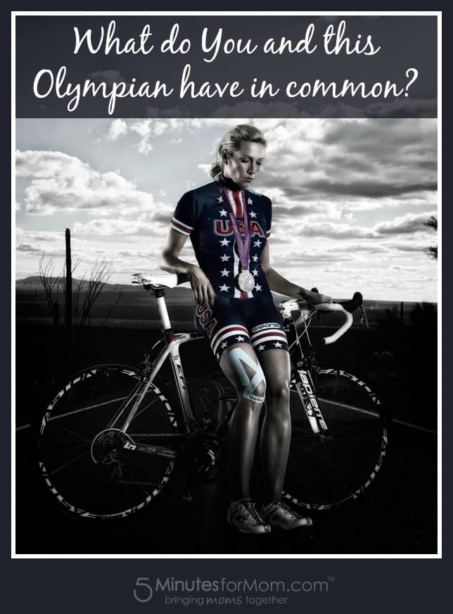 What do you and this Olympian have in common