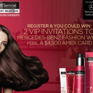 Win a Trip to Tresemme Mercedes Benz Fashion Week!