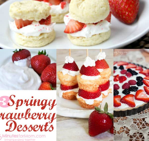 13 Springy Strawberry Desserts