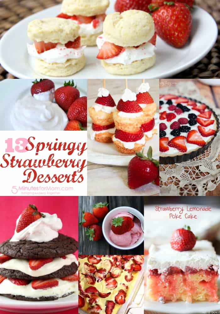 13 Springy Strawberry Desserts