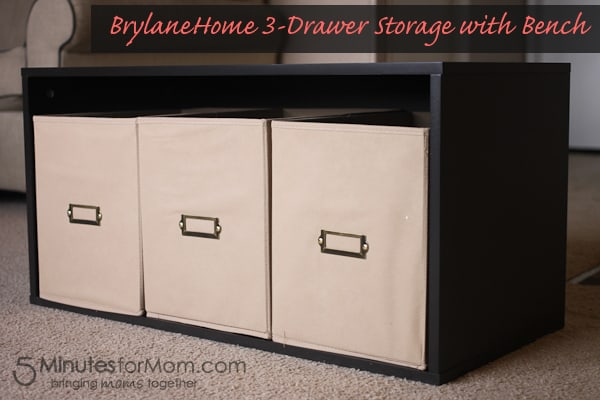 BrylaneHome 3-Drawer Storage with Bench