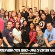 Interview with Chris Evans Star of Captain America #CaptainAmericaEvent