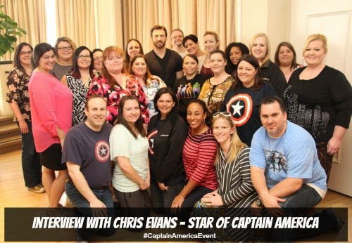 Chris Evans Group Photo - #CaptainAmericaEvent
