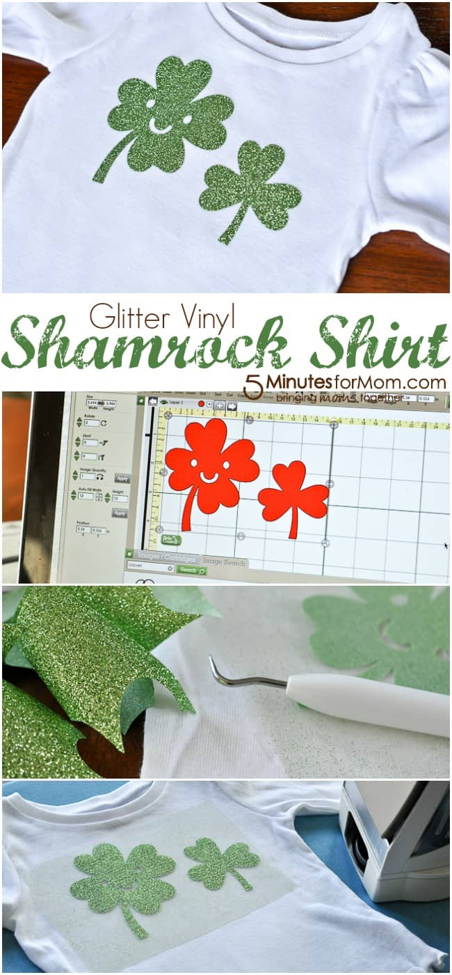 Glitter Vinyl Shamrock Shirt