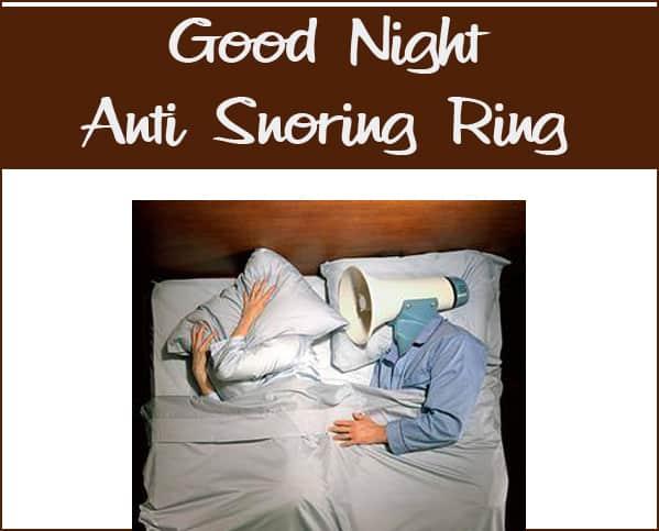 Good Night Anti Snoring Ring Review/Giveaway