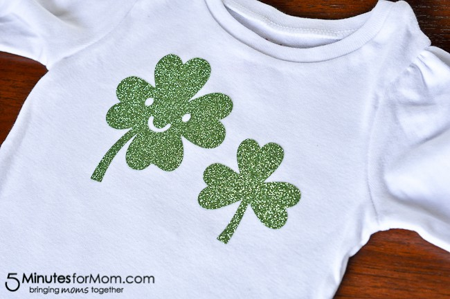 How to Make a Shamrock Shirt with Iron-On Vinyl-8