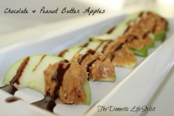 Peanut Butter and Chocolate Apples
