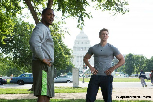 Sam Wilson and Steve Rogers - #CaptainAmericaEvent