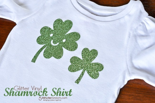Shamrock Shirt with Iron-On Vinyl-8