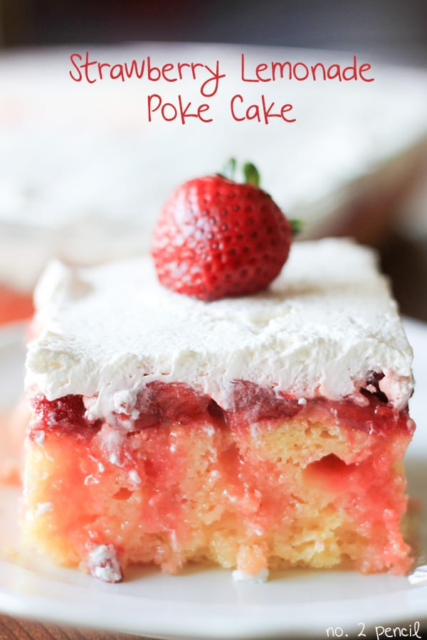 *Strawberry-Lemonade-Poke-Cake