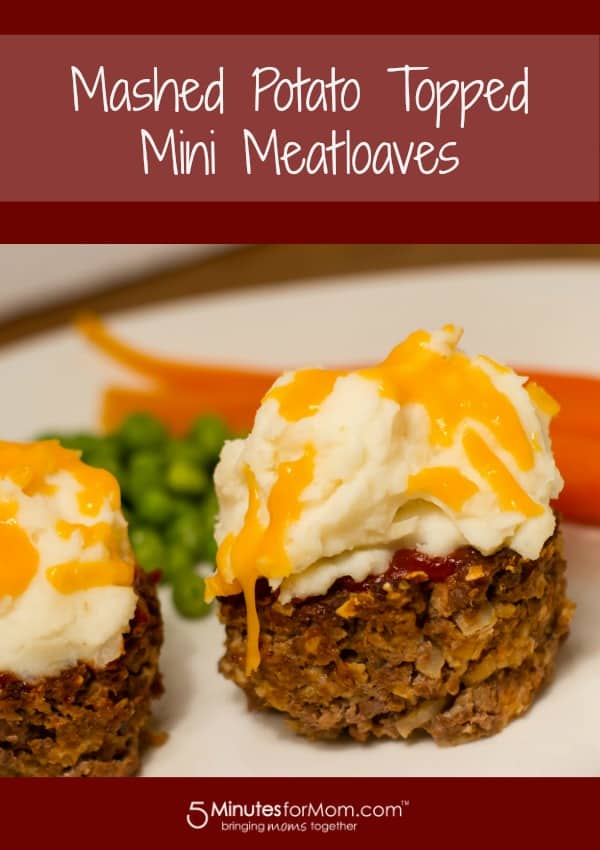Easy Mashed Potato Topped Mini Meatloaves