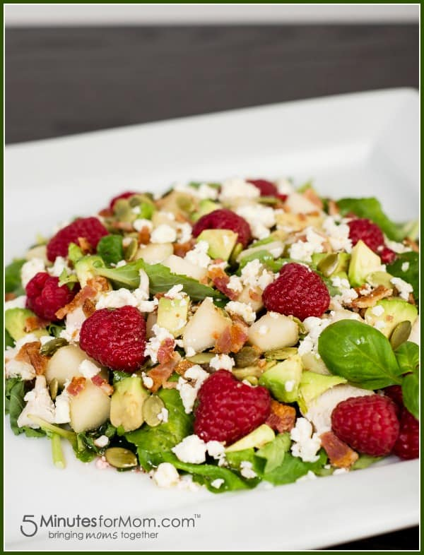 sweet-savory-salad-with-bacon-and-raspberries