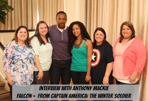 Anthony Mackie - Blogger Group Photo - #CaptainAmericaEvent