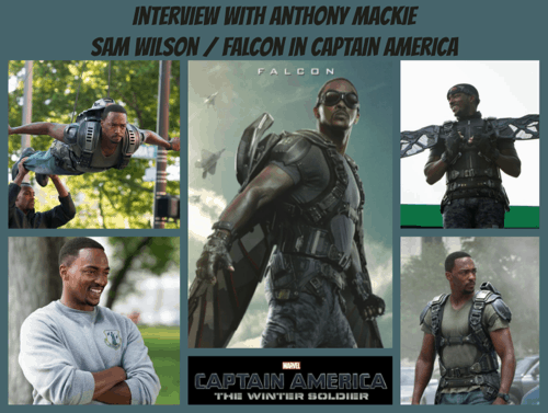 Anthony Mackie Interview Collage - #CaptainAmericaEvent