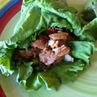Chicken and Mushroom Lettuce Wraps Featuring Emile Noel Artisan Sesame Seed Oil