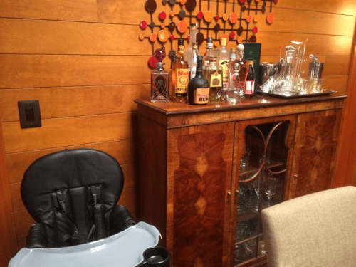 Derek and Meredith's Bar - Baby High Chair area - #ABCTVEVENT