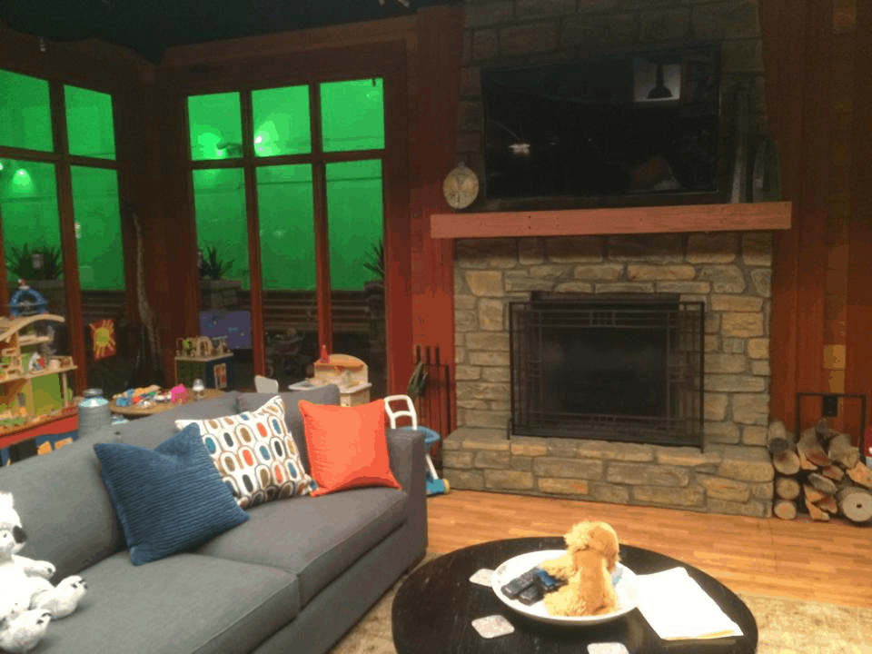 Derek and Meredith's Living Room - #ABCTVEVENT