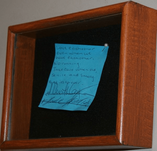 Derek and Meredith's Post It Wedding - #ABCTVEVENT
