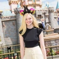 Elle Fanning Visits Disneyland – #Maleficent