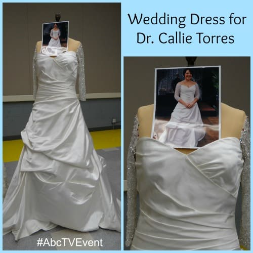 Grey's Tour - Costume - Callie Wedding Dress - #ABCTVEVENT