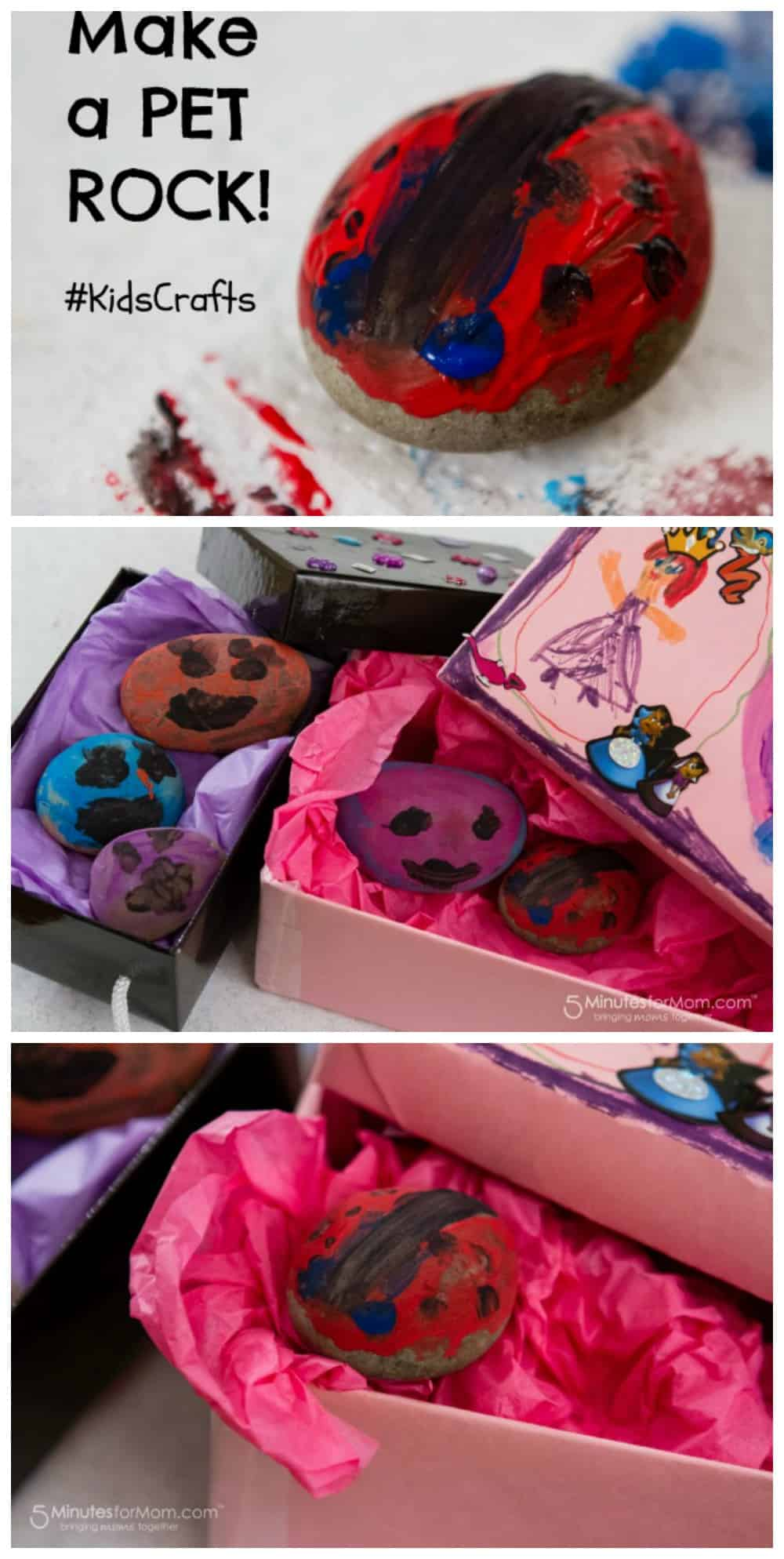 Make your own pet rocks kidscrafts for Crafts made from rocks
