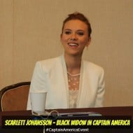 Scarlett Johansson Loves Playing Marvel's Black Widow #CaptainAmericaEvent