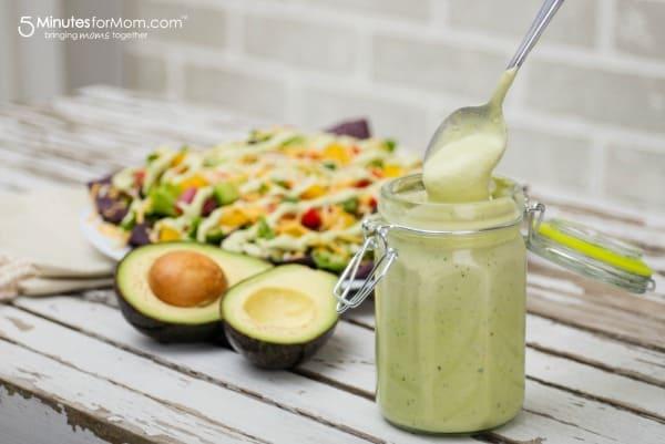 avocado yogurt dressing and dip recipe