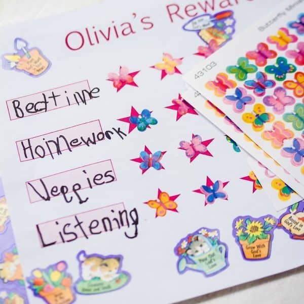 Kids' DIY Reward Chart with Faith that Sticks