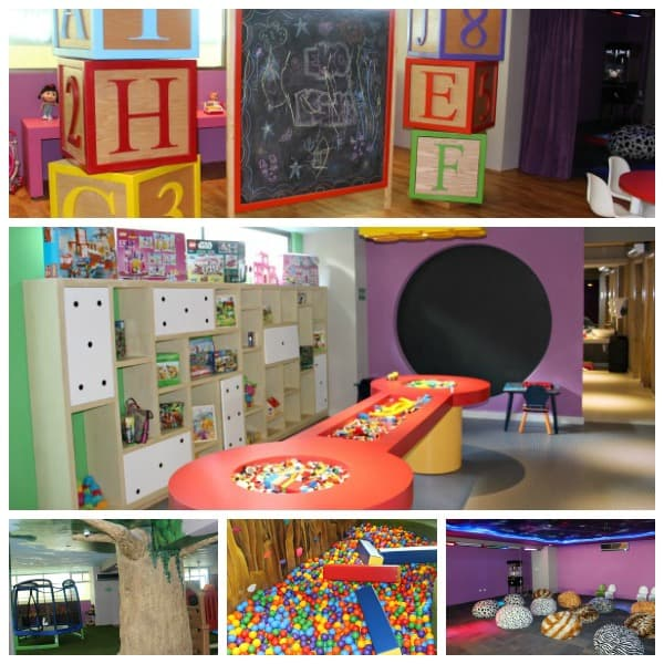 kids play area collage