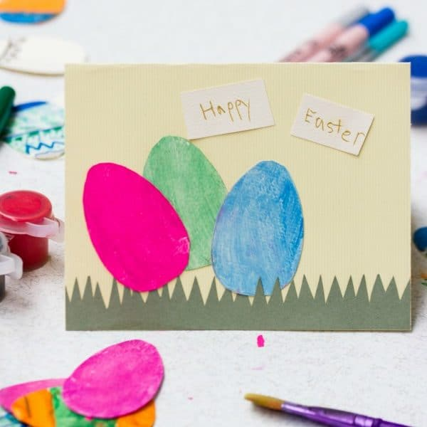 Paper Egg Easter Card — Easy Craft for Kids