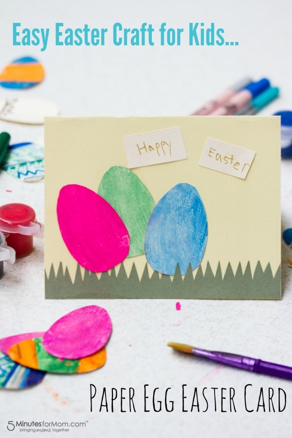 Paper Egg Easter Card Easy Craft for Kids – Easter Cards for Kids