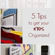 5 Organizing Tips for Kids
