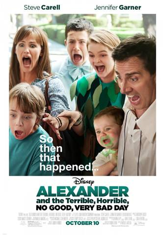 """""""Alexander and the Terrible, Horrible, No Good, Very Bad Day october 10 Poster"""