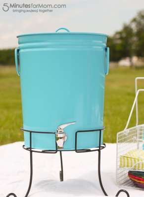 BrylaneHome Picnic Review galvanized drink dispenser