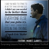 Surprising Lessons from a TV Show about Football #FridayNightLights