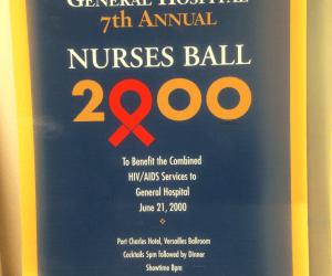 General Hospital Set Tour #ABCTVEVENT - Nurses Ball 2000 program