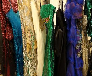 General Hospital Set Tour #ABCTVEVENT - Nurses Ball Rack of Dresses