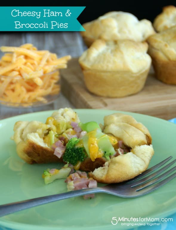 Cheesy Ham & Broccoli Pies / by Danielle @ www.BusyMomsHelper.com via 5MinutesForMom.com