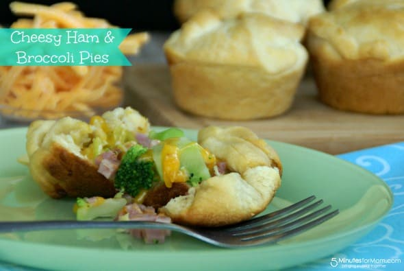 Cheesy Ham & Broccoli Pies / by Danielle @ www.BusyMomsHelper.com via 5MinutesForMom.com