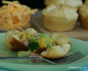 Cheesy Ham & Broccoli Pies