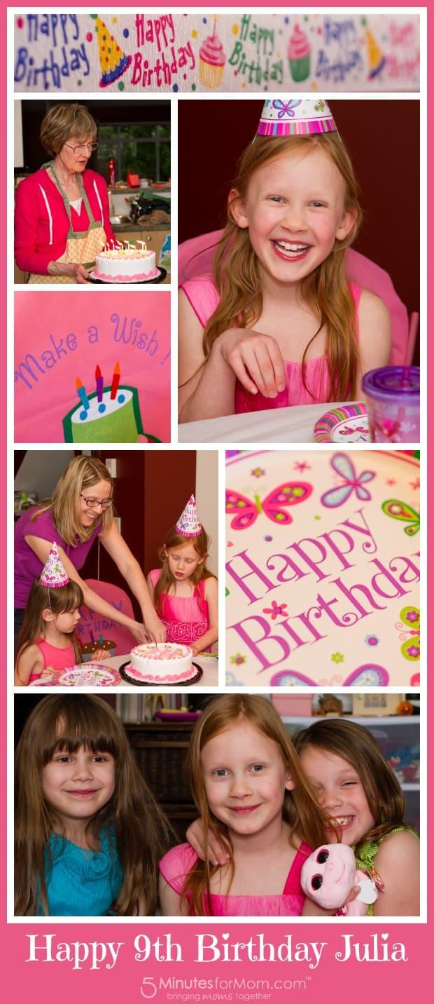 Happy 9th Birthday Julia