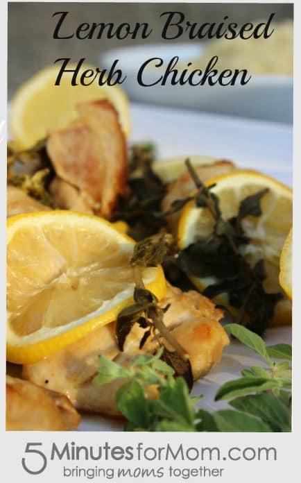 Lemon Braised herb chicken title