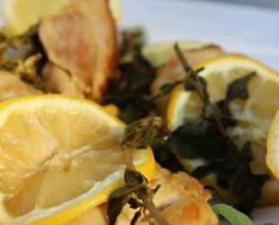Ask the Domestic Life Stylist: Lemon Braised Herb Chicken