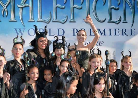 Angelina Jolie Stuns On The Blue Carpet At The Maleficent