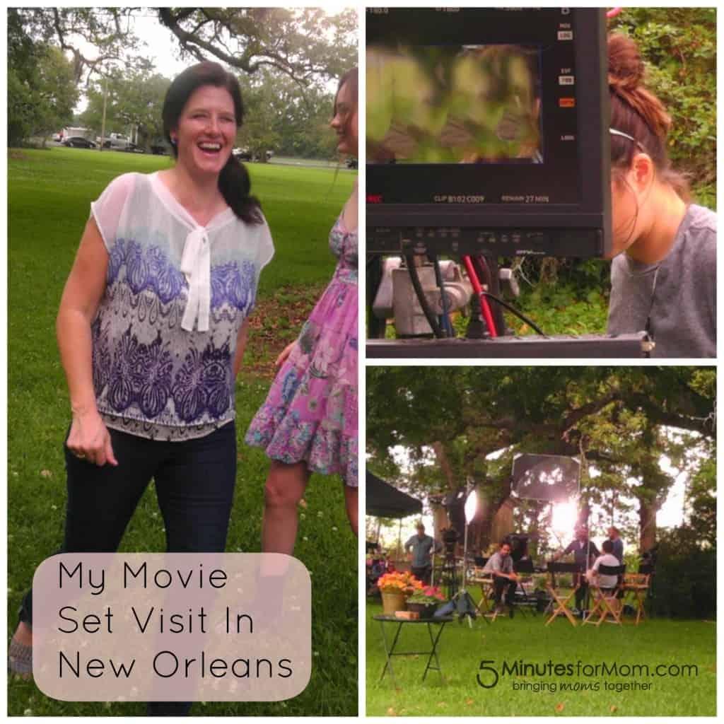 Movie Set Visit Collage